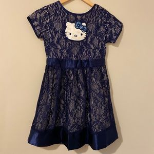 HELLO KITTY | Girls Royal blue dress Size L(10/12)